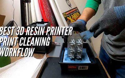 Best Resin 3D Printer Print Cleaning Workflow Using Mean Green & Ultrasonic Cleaner