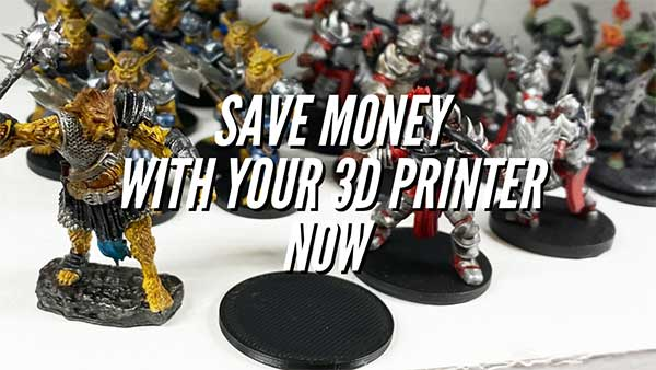Save Money & Print Your Own D&D Miniature Stands With A 3D Printer